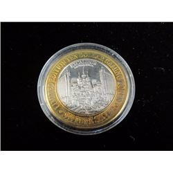 .999 Pure Silver 10.00 Limited Edition Casino Token