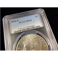 1898 O MS63 PCGS Morgan Dollar