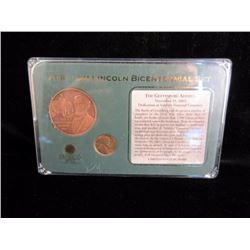 Lincoln Coin Medal Set