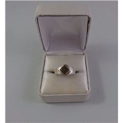 14KT YELLOW GOLD LADIES RING SET WITH ONE SQUARE CUT TRIPLET AMMONITE SHELL TW 4 GRAM REPLACEMENT