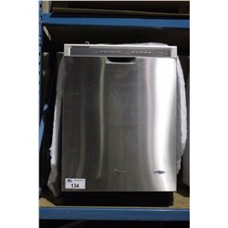 WHIRPOOL STAINLESS STEEL MODEL WDF530PAYM6 BUILT IN DISHWASHER