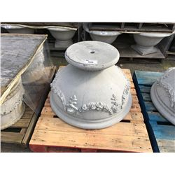 LOW FLUTED CEMENT GARDEN STONE PLANTER