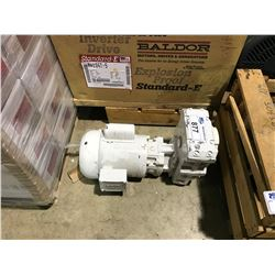 DAM ELECTRIC MOTOR WITH GEAR BOX AND NO NAME WHITE ELECTRIC MOTOR