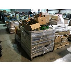 PALLET OF MISC ELECTRICAL, OILS AND PARTS