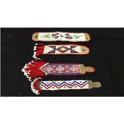 4 Beaded Watch Fobs 1920s