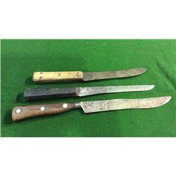 3 Indian Trade Knives