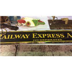 Railway Express Enamel Sign 6ft