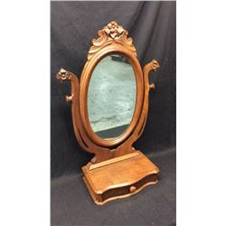 Antique Counter Top Mirror with Drawer
