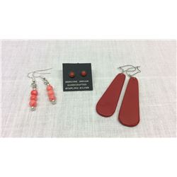 3 Pairs Native American Made Earrings