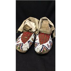 Sioux Beaded Moccasins 1900s