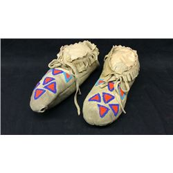 Beaded Moccasins Brain Tanned
