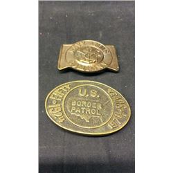 Border Patrol and Navy Arms Buckles