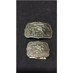 1986 NFR Hesston Large Buckle and 1986 NFR