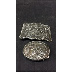 1987 NFR Hesston Large Buckle and 1988 NFR