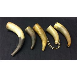Collection of 5 Powder Horns