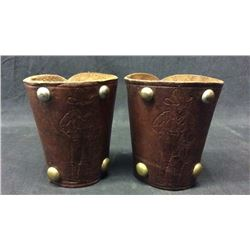 Little Boy Cowboy Cuffs with Carved Images
