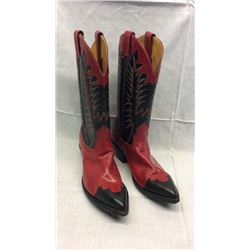 Nacona Red and Black Womens Boots Size 9