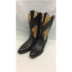 Montana Boots. Indian Headdress with Red Arrows 6