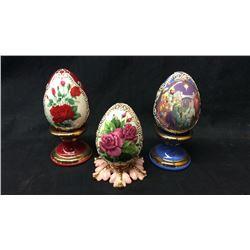 3 Custom Eggs on Stands. Livingston, Mt