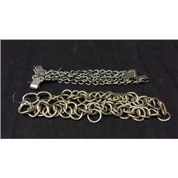 2 Chin Strap Chains 2 Spur Chains