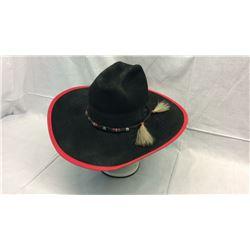 Black with Red Trim Resistol Hat