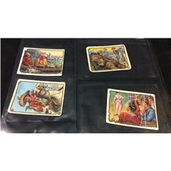 4 1909 Cowboy Series Cigarette Cards