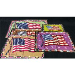 5 Cigar Felts. American Flag Pattern