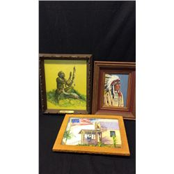 Collection of 3 Small Framed Art