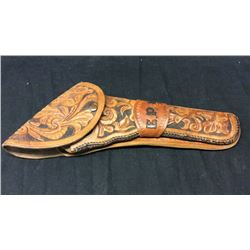 Colt SA Flap Holster Calif Carved