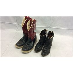 2 Pair Boys Boots