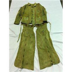 Wild West Tanned Hide Jacket and Chaps