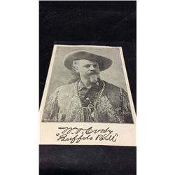 Late 1800s Buffalo Bill Souvenir Card