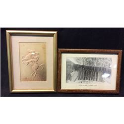 2 Framed Collectibles