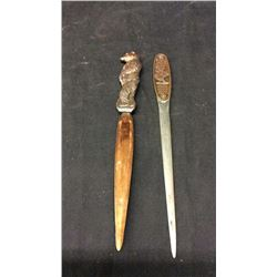 2 Copper Letter Openers