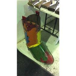 Tin Cowboy Boot Folk Art