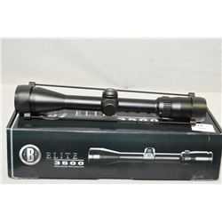 "Bushnell Elite 3500 3 - 9 x 40 MM Matte Black Finish 1"" Tube Scope Multi X Reticle [ appears as new"