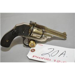 Iver Johnson Model Safety Hammerless Automatic .38 S & W Cal 5 Shot Revolver w/ 83 MM bbl [ nickel f