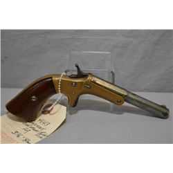 "Stevens Model Old Model Pocket Pistol .22 Cal Single Shot Pistol w/ 3 1/2"" part rnd part octagon bbl"