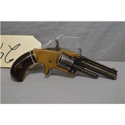 "Marlin Model XXX Standard 1872 Pocket .30 Rimfire Cal 5 Shot Revolver w/ 3"" rnd ribbed bbl [ brass f"