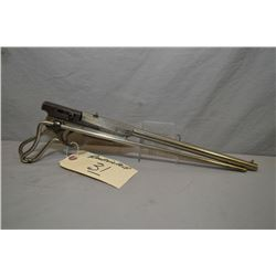 Quackenbush, H.M. Model Bicycle Rifle .22 Rimfire Cal Single Shot Pistol w/ 305 mm bbl [ nickel fini