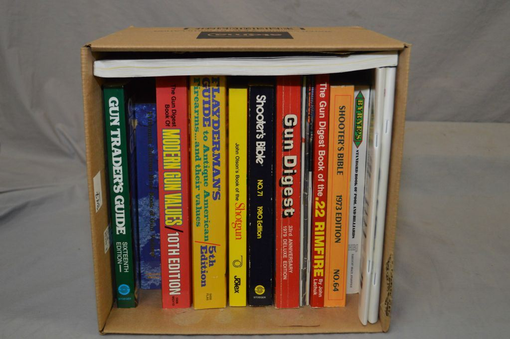 Box Lot : Books including : Flayderman's Guide - Shooter's Bible