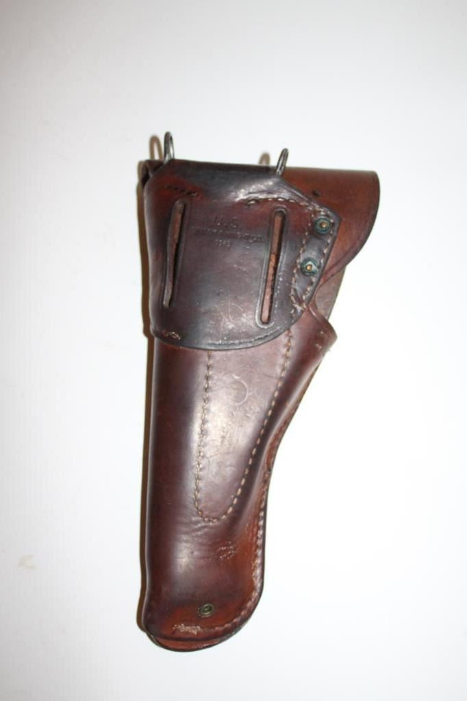U S  military leather flap holster for 1911 pistol marked