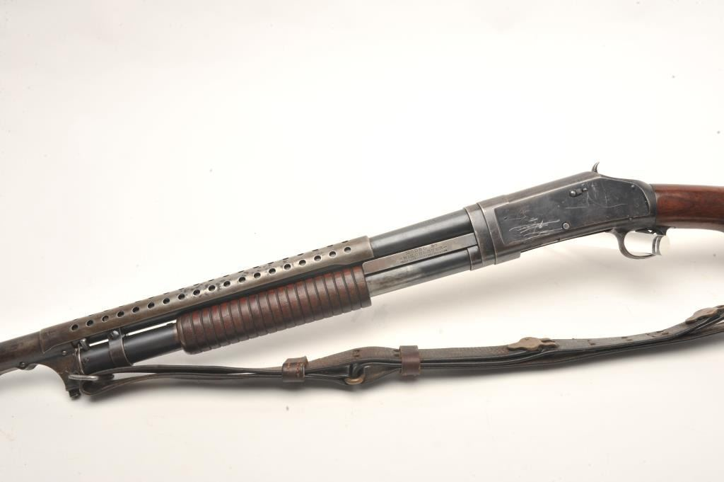 Winchester Model 97 pump action shotgun converted to trench