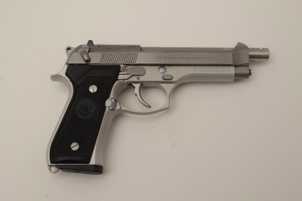 Beretta 92FS 9mm Semi-Auto pistol hard chrome finish with