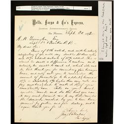 Jonathon Valentine letter to HM Yerington of the V&T