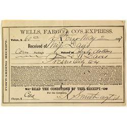 Wells Fargo Reno $60.00 receipt