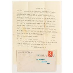 Cover & Letter from Studebaker Bros. Mfg. Co.