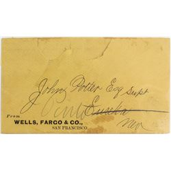 Wells Fargo Cover Addressed to Pinto, Nevada