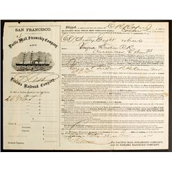 V&T, CP, PMSC, PRC - Four Important early Western Transportion Companies on One Document