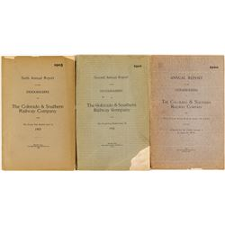 Colorado & Southern Railway Company Annual Reports